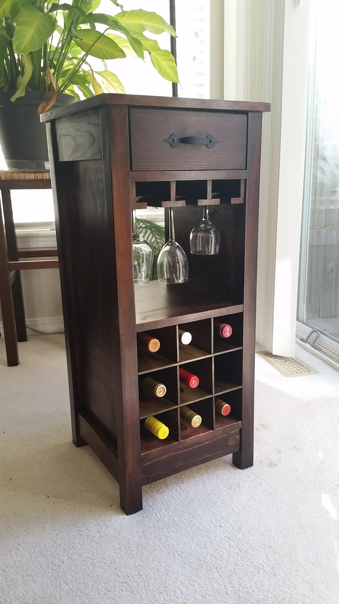 Diy Wine Cabinet Plans Ana White Mini Wine Bar Diy Projects
