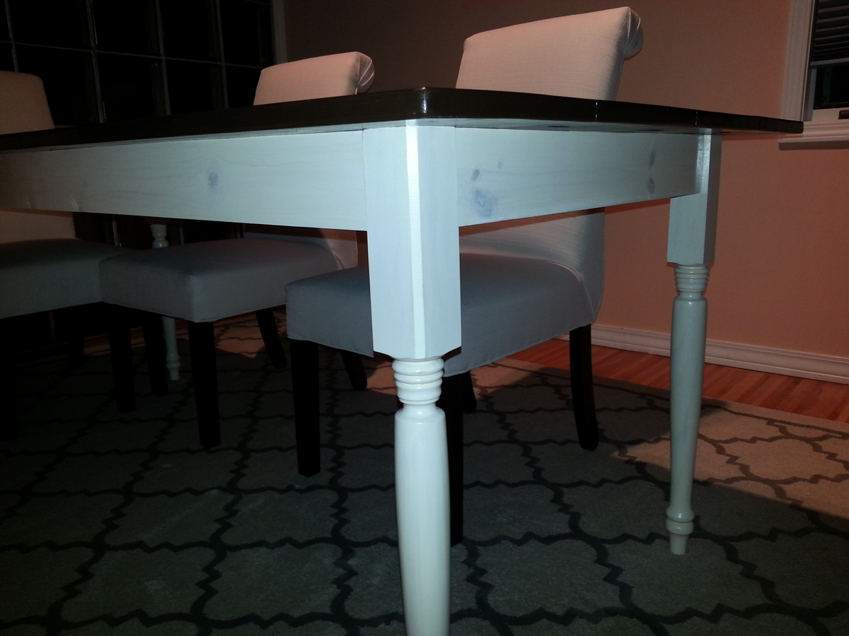 How To Build A Farmhouse Table Youtube Ana White Two Toned Turned Leg Farmhouse Table Diy