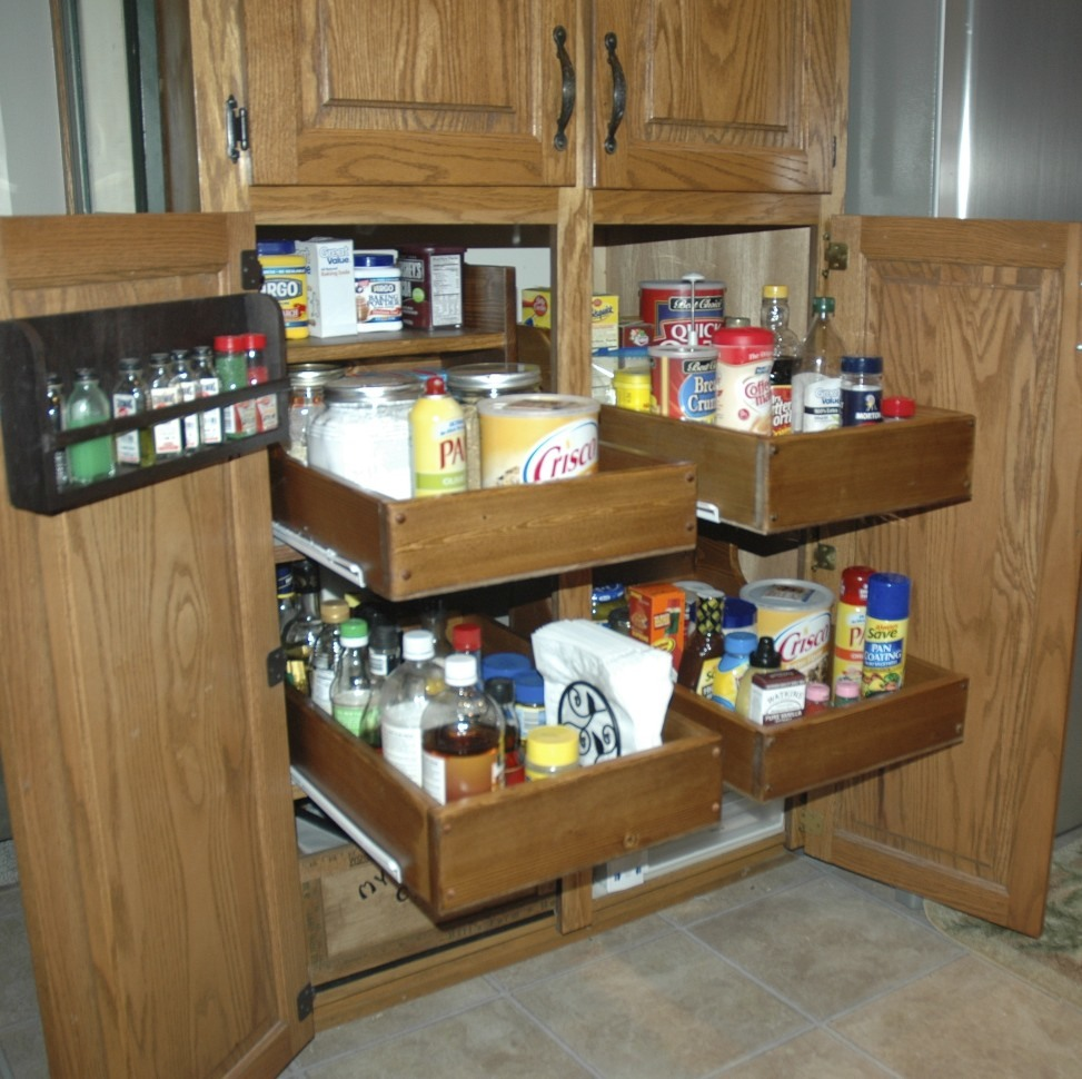 Kitchen Cabinets With Pull Out Shelves Ana White Pull Out Cabinet Drawers Diy Projects