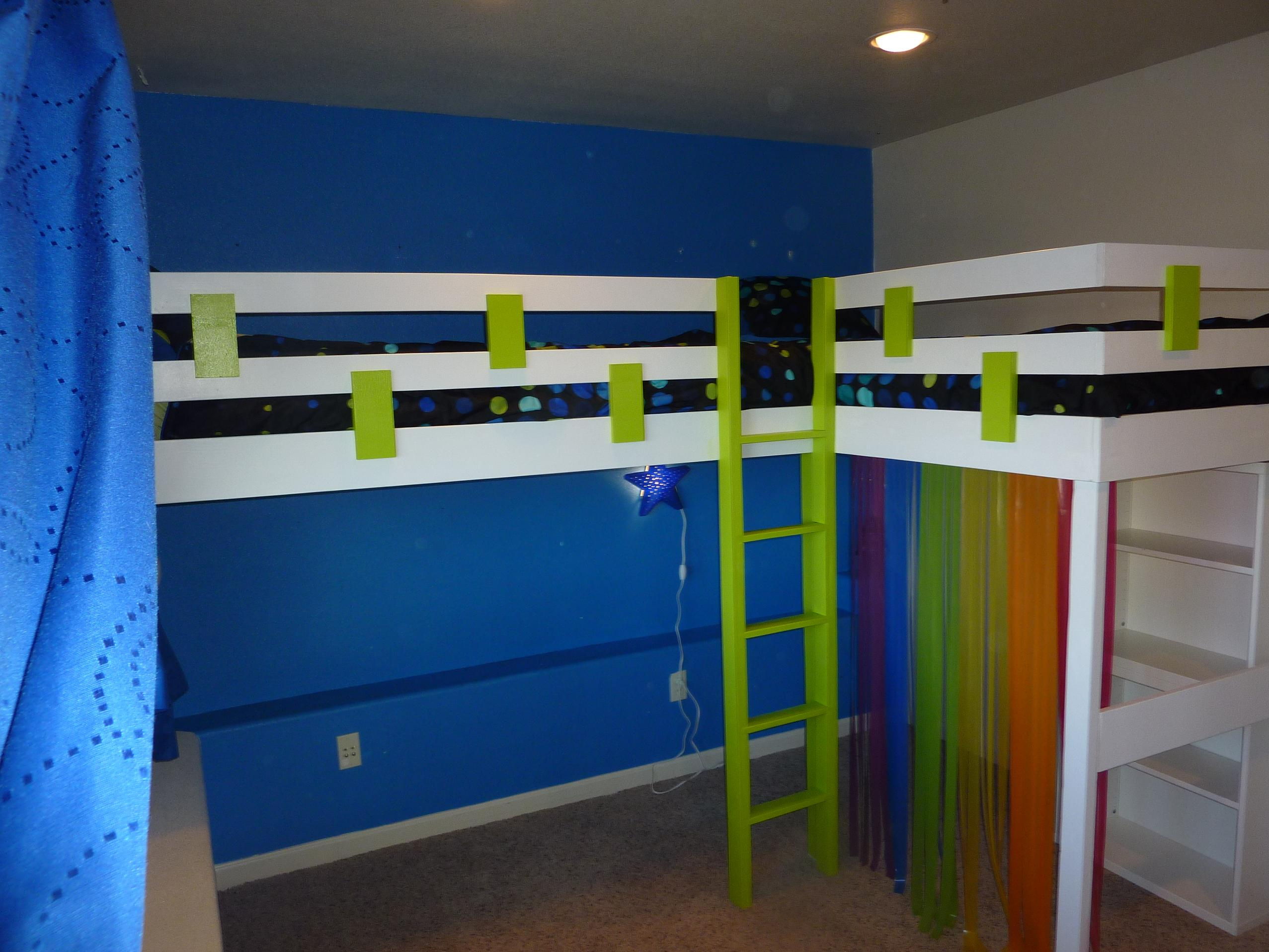 Double Loft Bed For Kids Woodwork Double Loft Bed Plans Pdf Plans