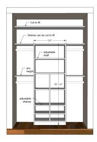 Wardrobe Closet: Standard Wardrobe Closet Dimensions