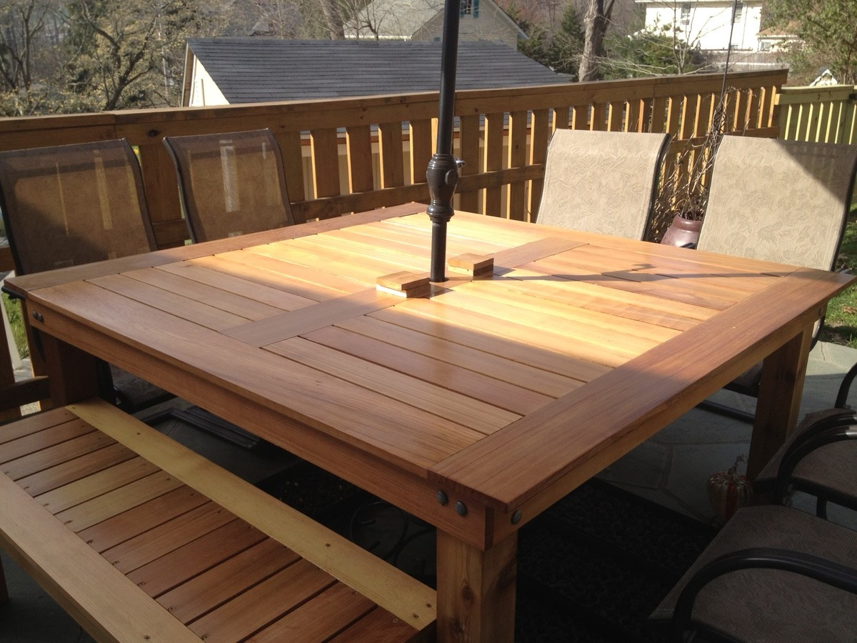 Porch Table Ana White Simple Square Cedar Outdoor Dining Table Diy