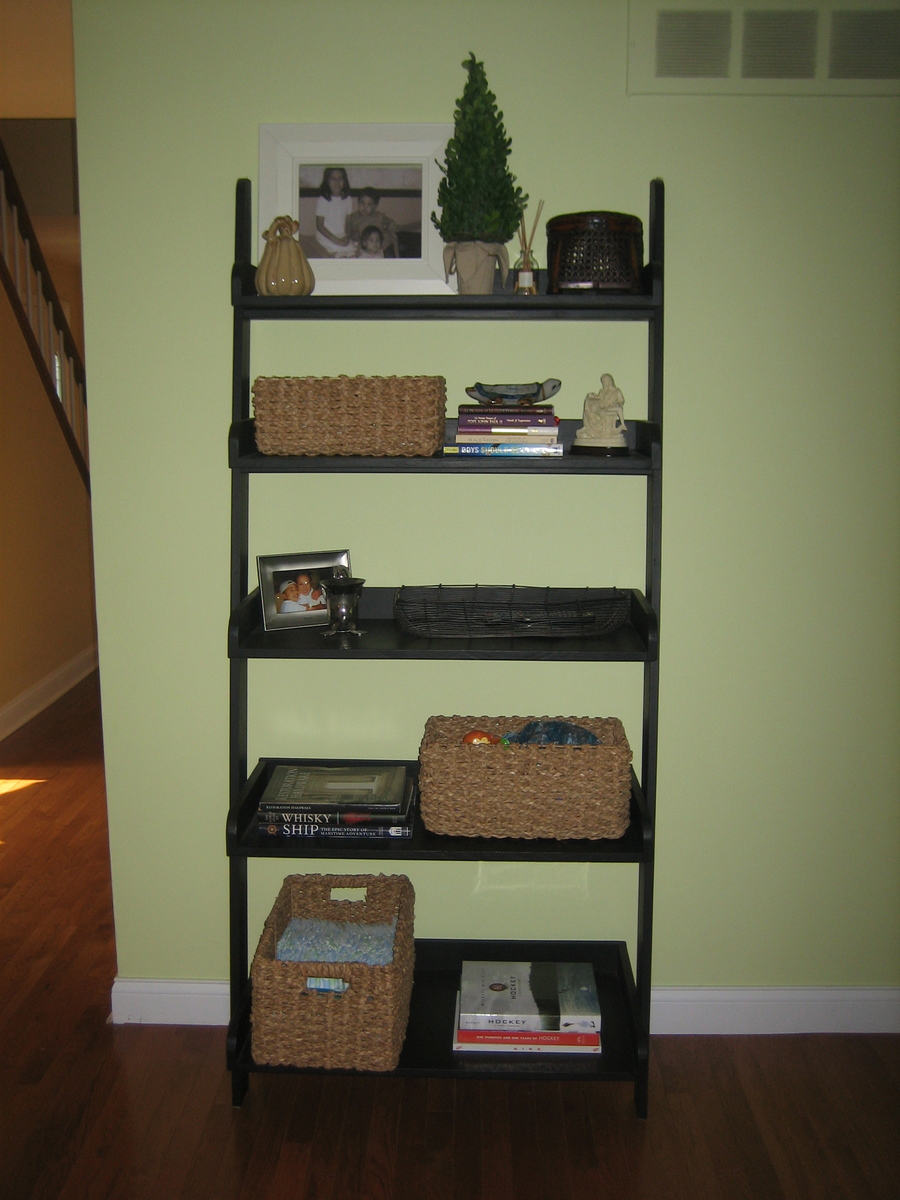 Do Yourself Home Improvement Project Diy Leaning Ladder Bookshelve Omahdesigns Net