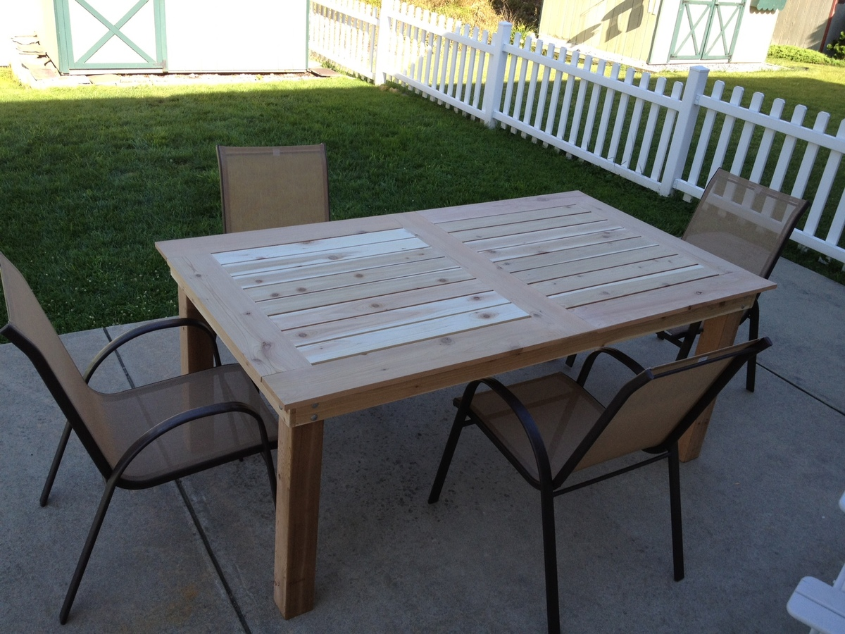 Porch Table Ana White Patio Table Diy Projects