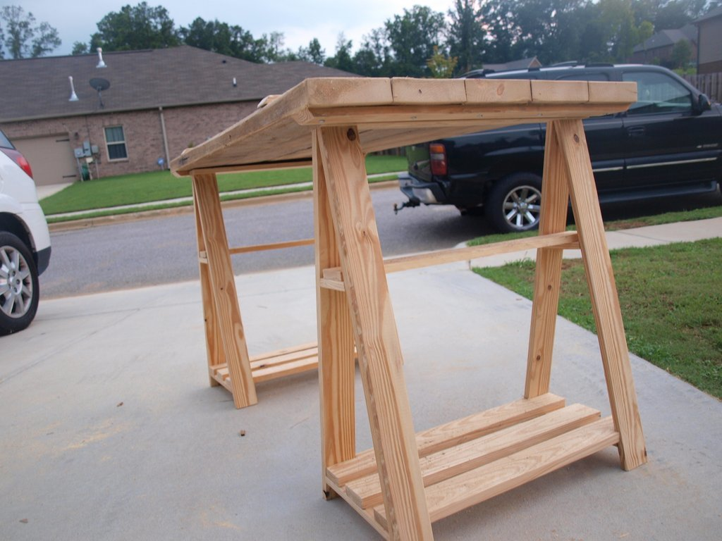Writing Table Plans Ana White Sawhorse Writing Desk Diy Projects
