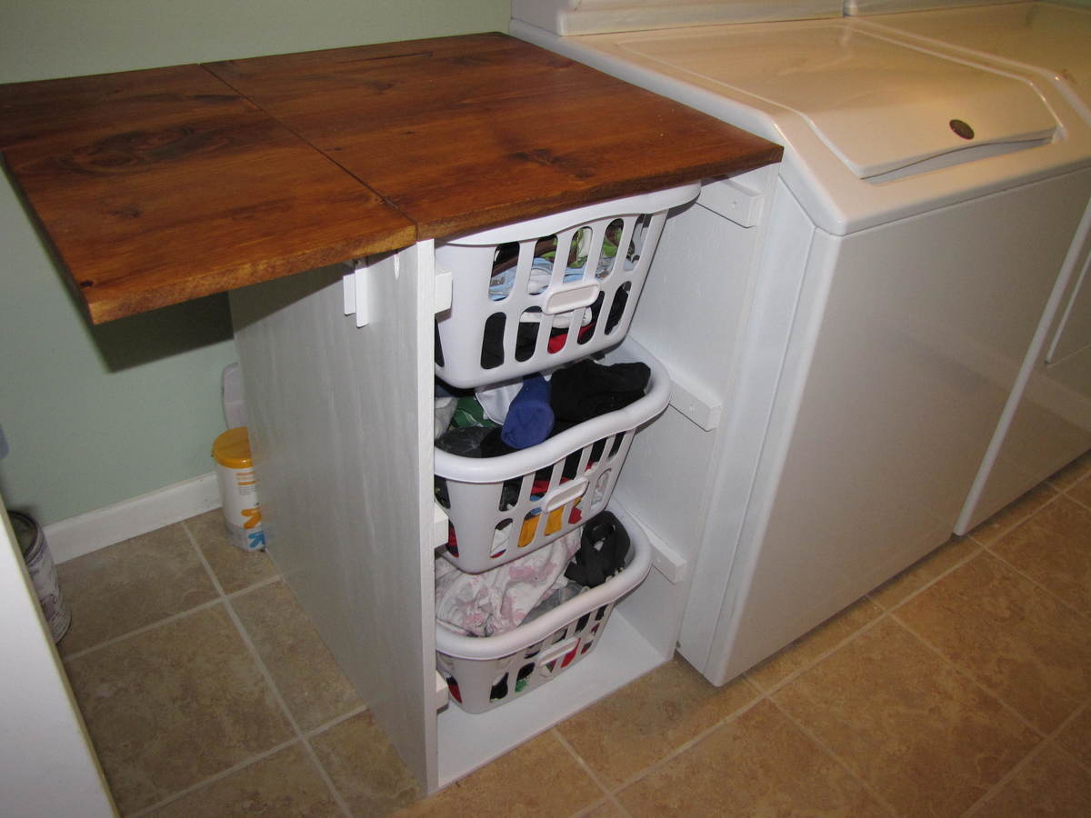 Built In Folding Table Ana White Laundry Cabinets Shorter Brook Laundry