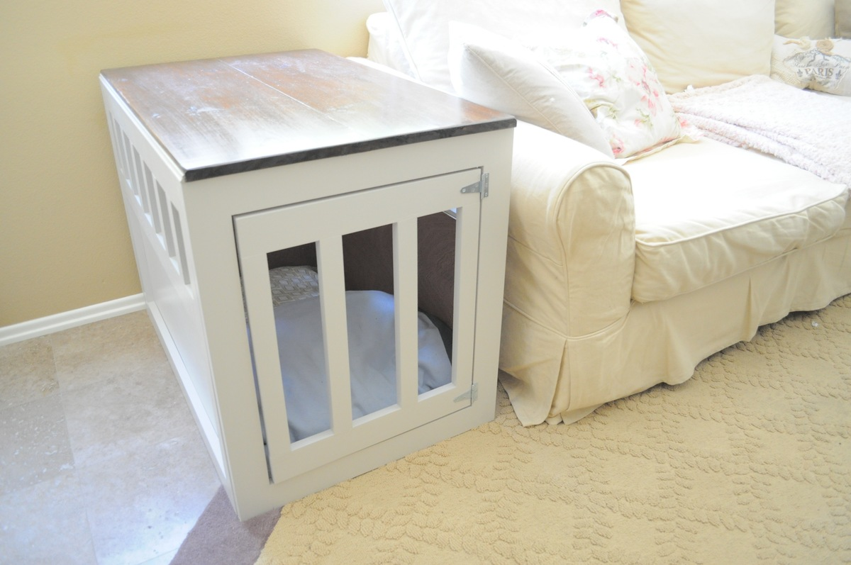 Build Your Own End Table Build Your Own Dog Crate End Table Quick Woodworking