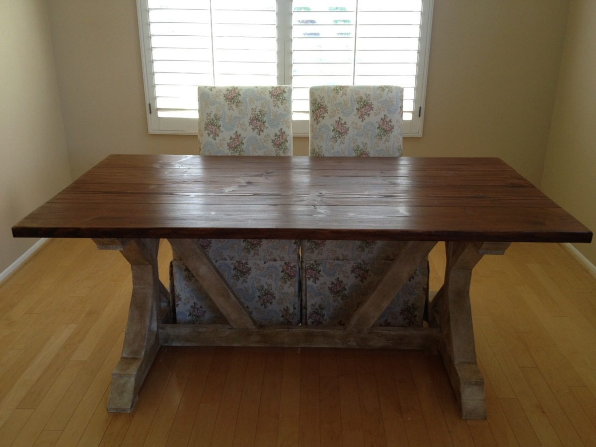 Farmhouse Living Room Ana White | Fancy X Farmhouse Table - Diy Projects