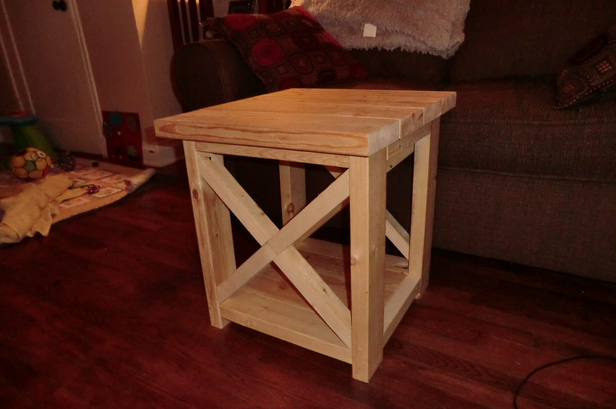 Diy End Tables Plans Ana White Smaller Rustic X End Table Diy Projects