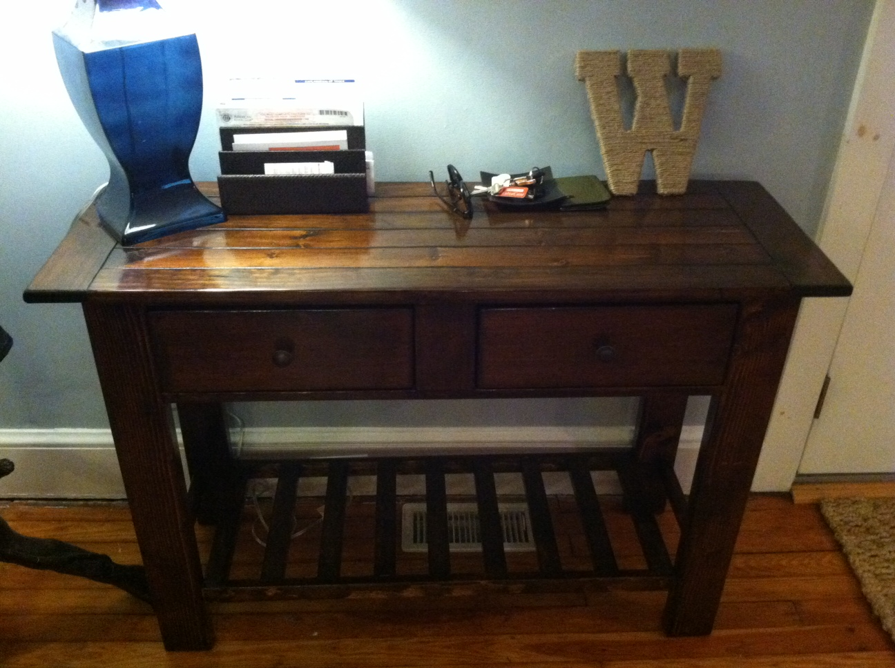Sofa Table Set Up Ana White Benchwright Tryde Console Table Diy Projects
