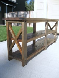 This is Woodworking plans media console ~ Wood