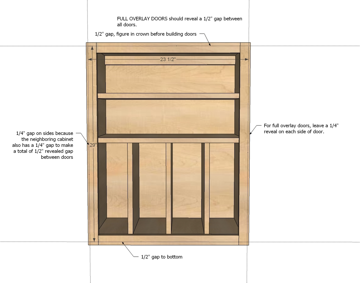 Kitchen Cabinets Face Frame Dimensions Ana White Wall Kitchen Cabinet Basic Carcass Plan Diy