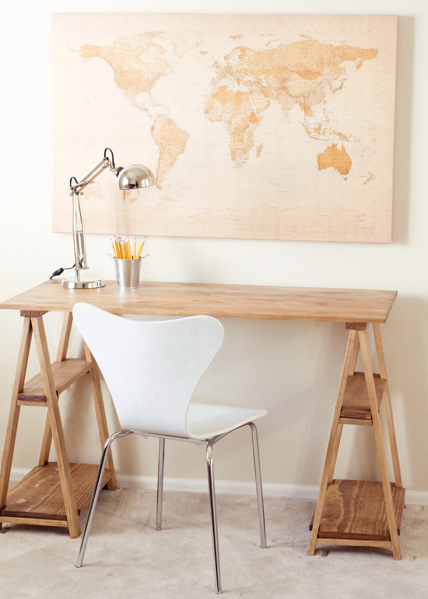 Idee De Bureau A Faire Soi Meme Ana White Sawhorse Desk Diy Projects