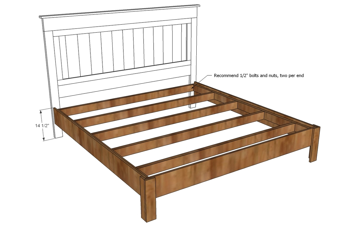 Diy Platform Bed Base Ana White King Size Fancy Farmhouse Bed Diy Projects