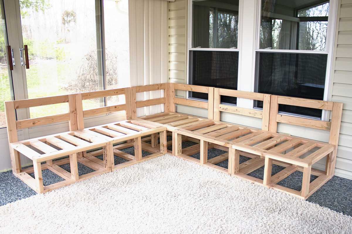 Patio Sectional Plans Ana White | Outdoor Sectional - Diy Projects