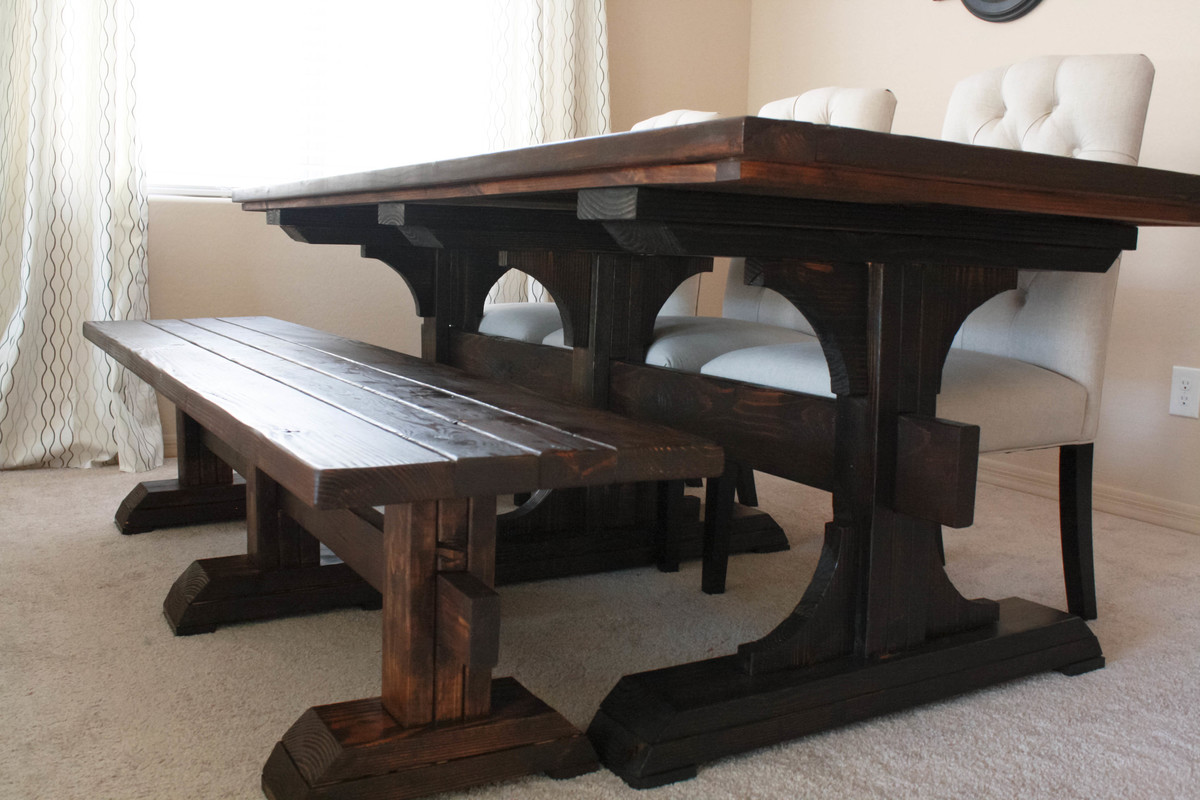Diy 8 Person Dining Table Ana White Triple Pedestal Farmhouse Table Diy Projects