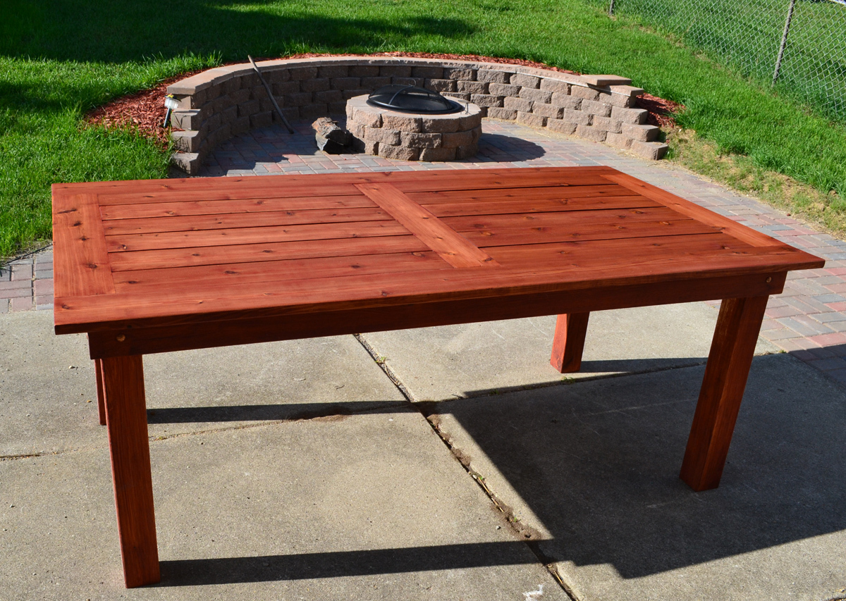 Porch Table Ana White Beautiful Cedar Patio Table Diy Projects
