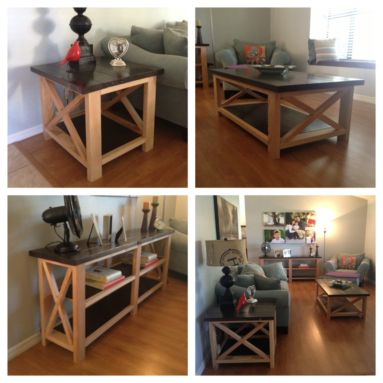 Diy End Tables Plans Ana White Rustic X Coffee Table End Table And Console