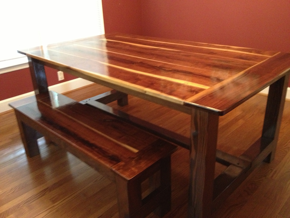 Black Farmhouse Table With Bench Ana White Black Walnut Farmhouse Table Diy Projects