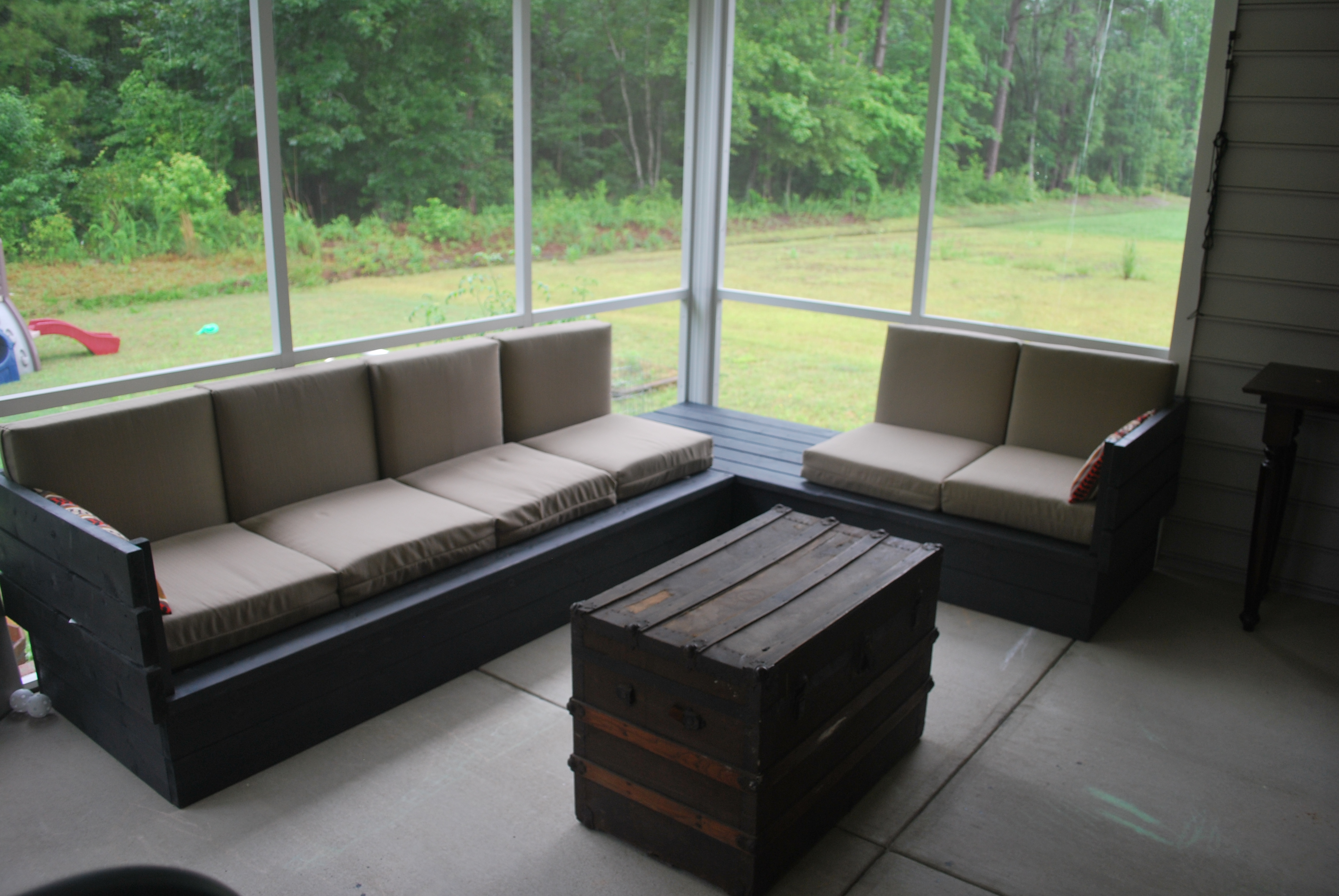 Patio Sectional Plans Ana White | Platform Outdoor Sectional - Diy Projects