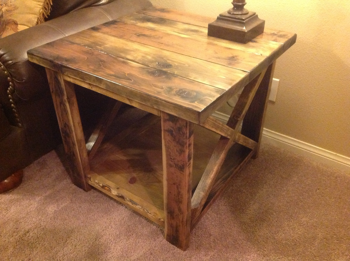 Finish Tables Ana White Rustic X End Table Diy Projects