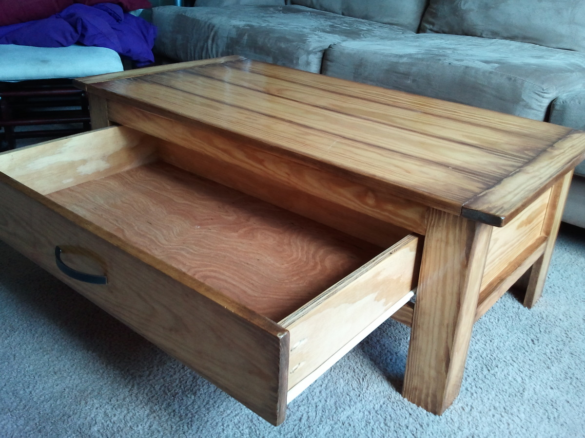 Tv Hidden In Coffee Table Building A Coffee Table With Drawers Plans Diy Free