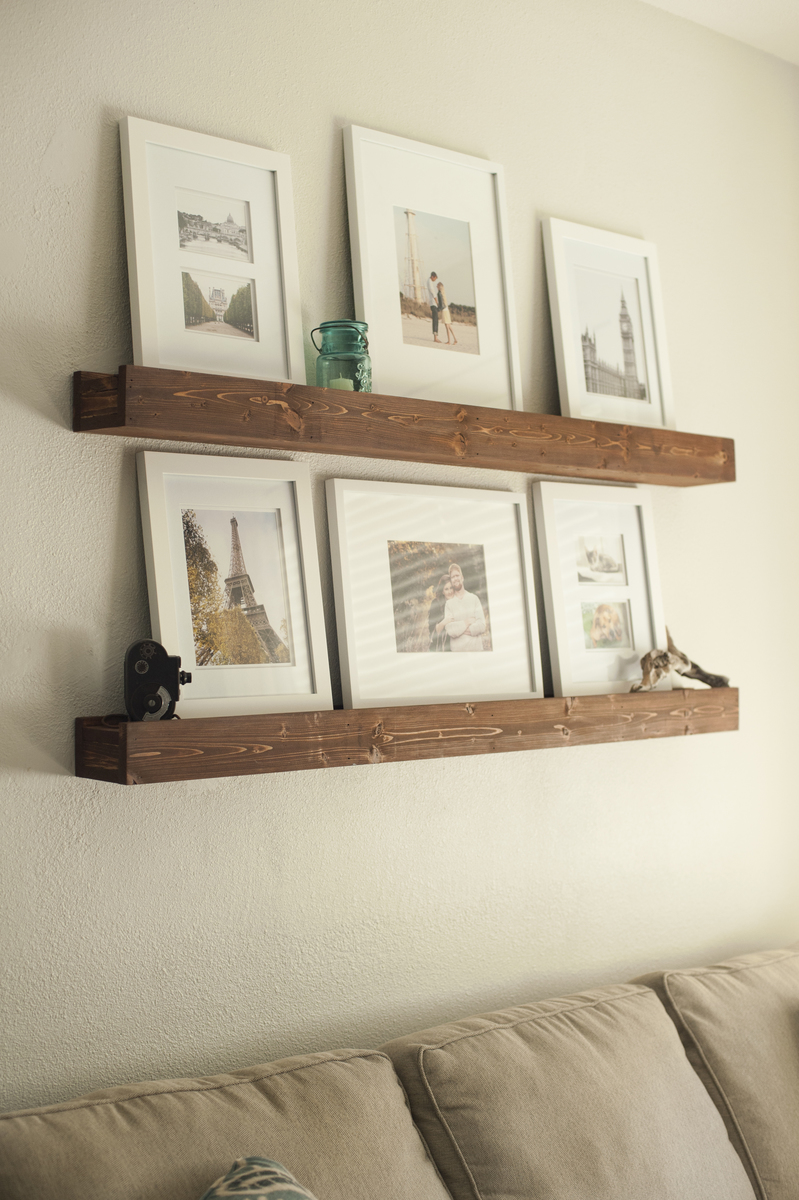 Wanddecoratie Woonkamer Ikea Ana White | 5ft Floating Barn Beam Ledges - Diy Projects