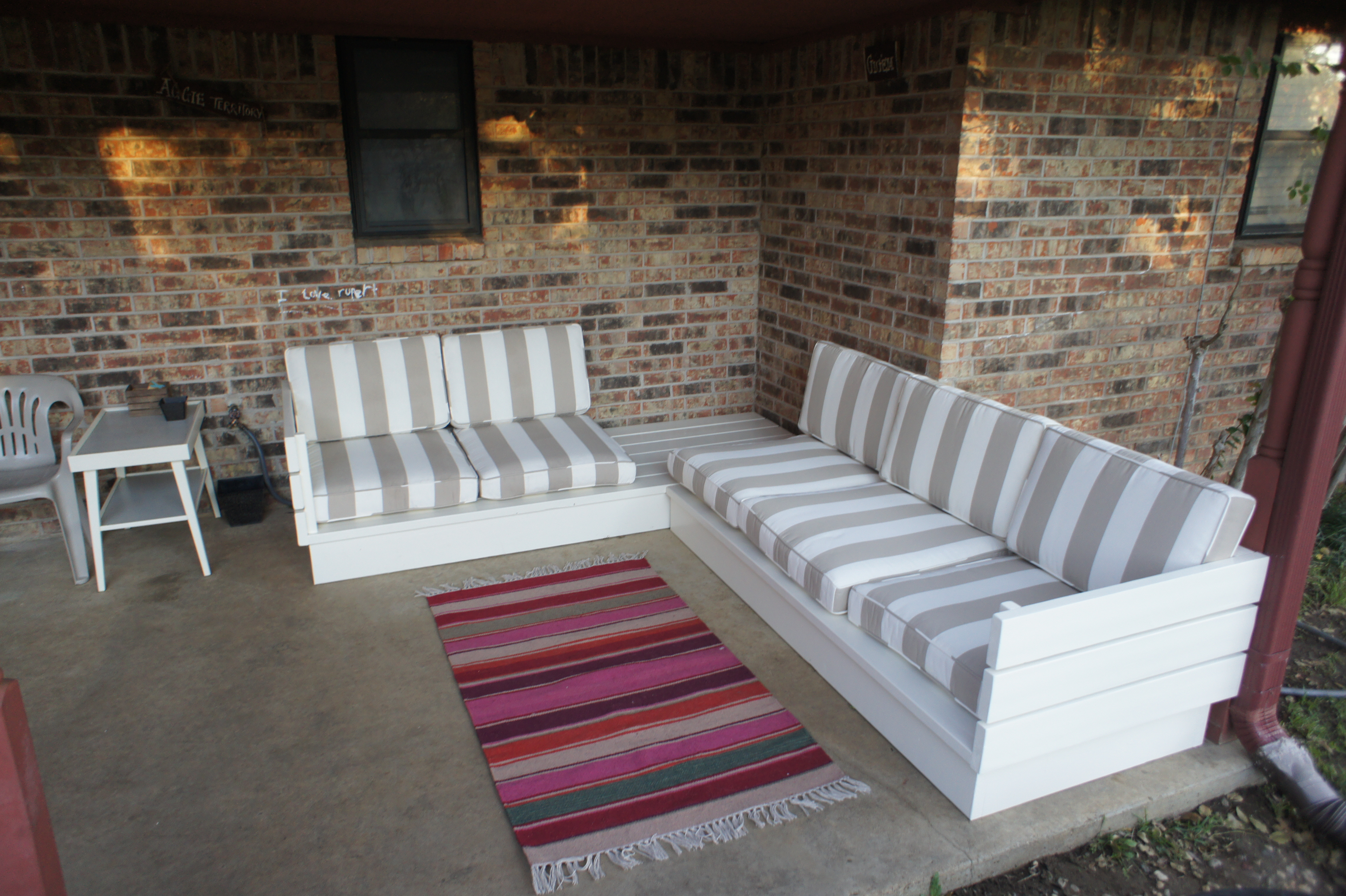 Patio Sectional Plans Ana White | Outdoor Sectional Couch - Diy Projects