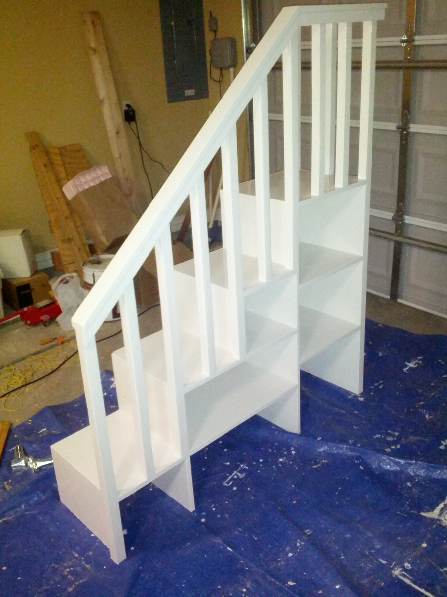 Building A Bunk Bed With Stairs Ana White Classic Bunk Bed With Sweet Pea Stairs Diy