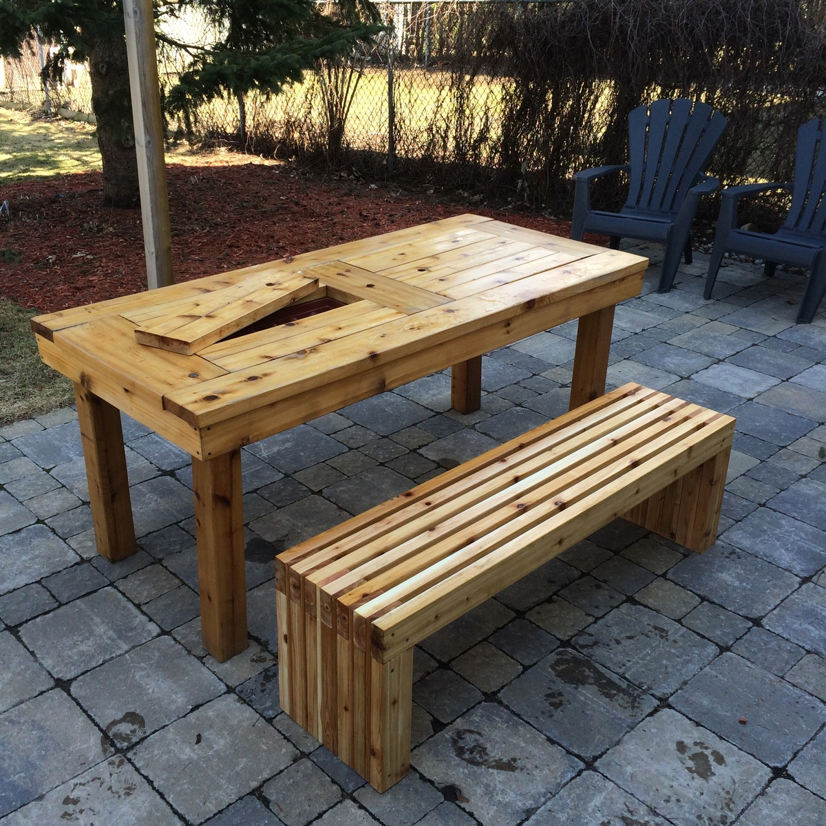 Porch Table Ana White Diy Patio Table And Bench Diy Projects
