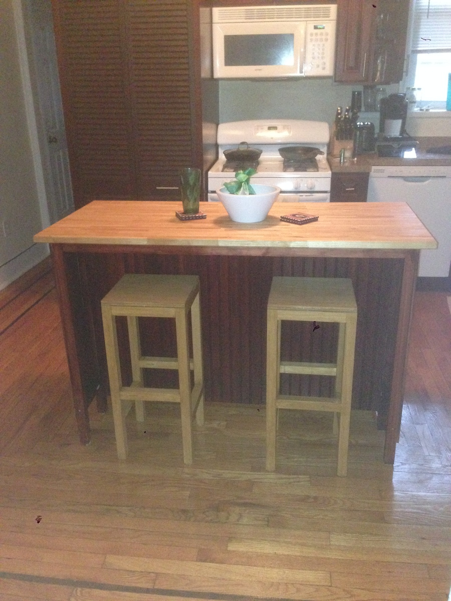 Stools Kitchen Islands Ana White Kitchen Island With Bar Stools Diy Projects