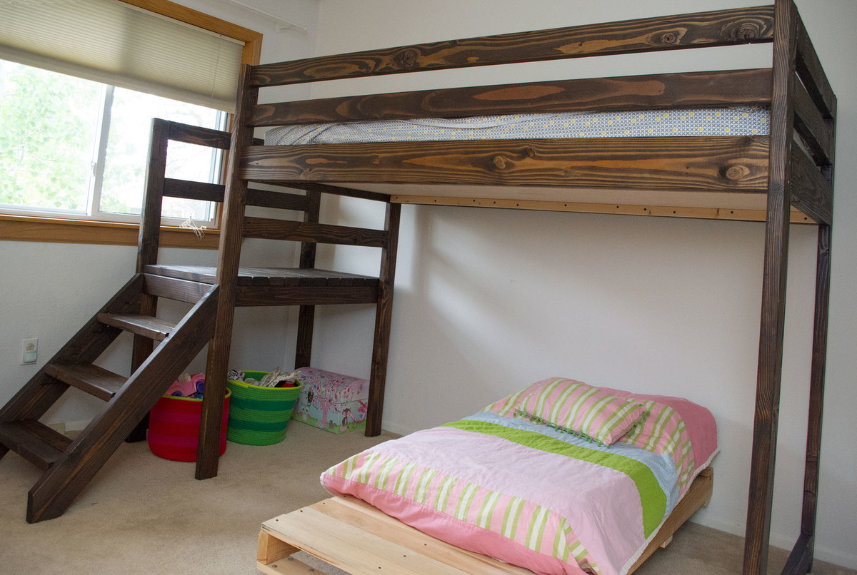 Wood Loft Wood Bunk Beds Tigerdroppings