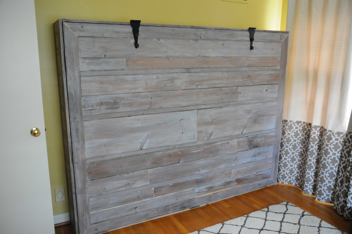 Billiges Bett Ana White Rustic Queen Sized Wall Bed Diy Projects