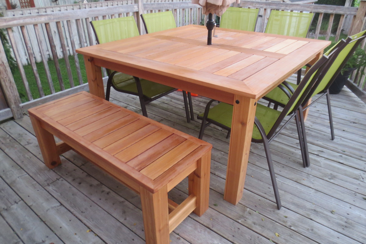 Porch Table Ana White Cedar Patio Table Diy Projects