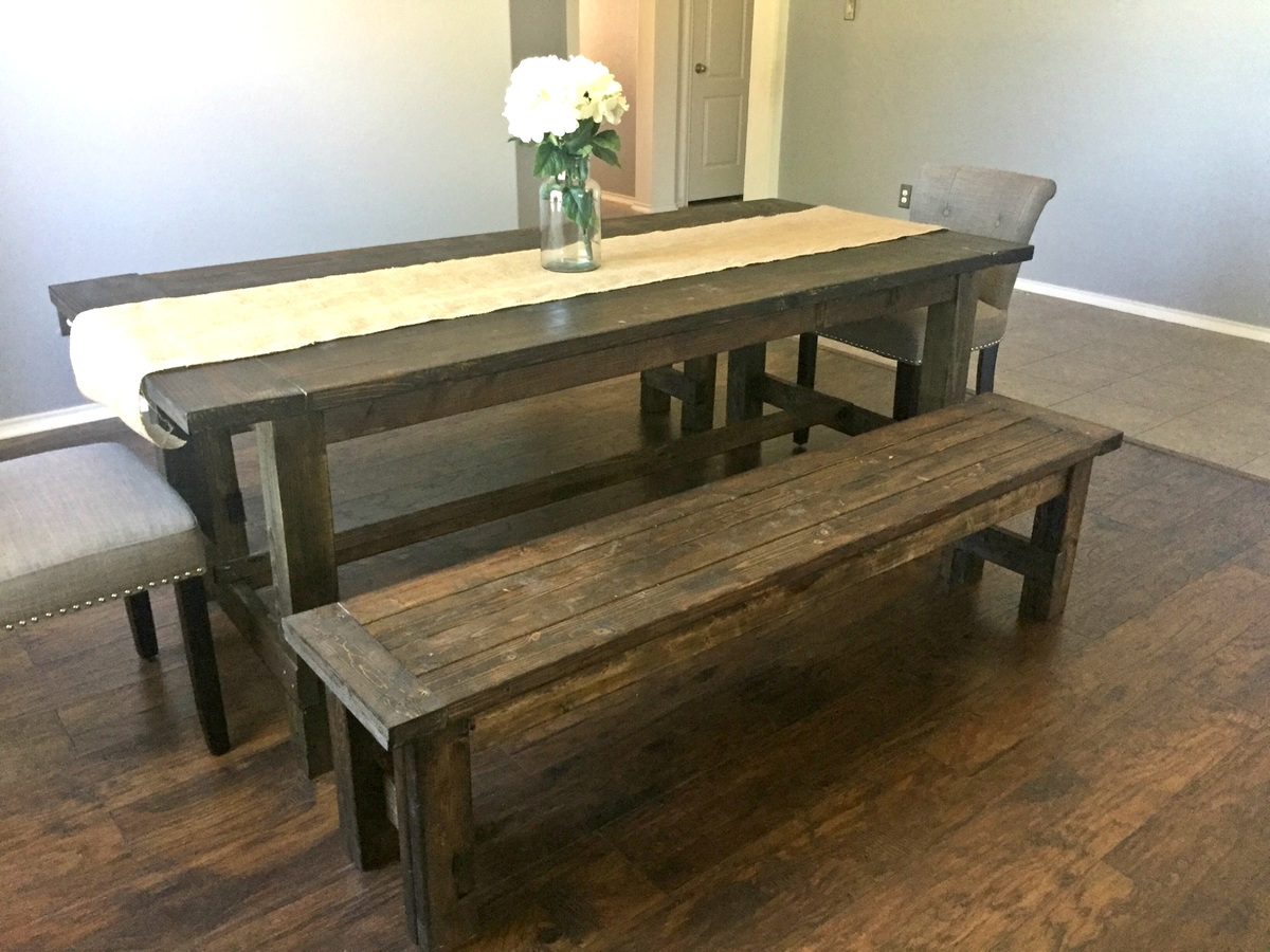 Farmhouse Dining Table Farm Dining Table With Bench 28 Images Ana White