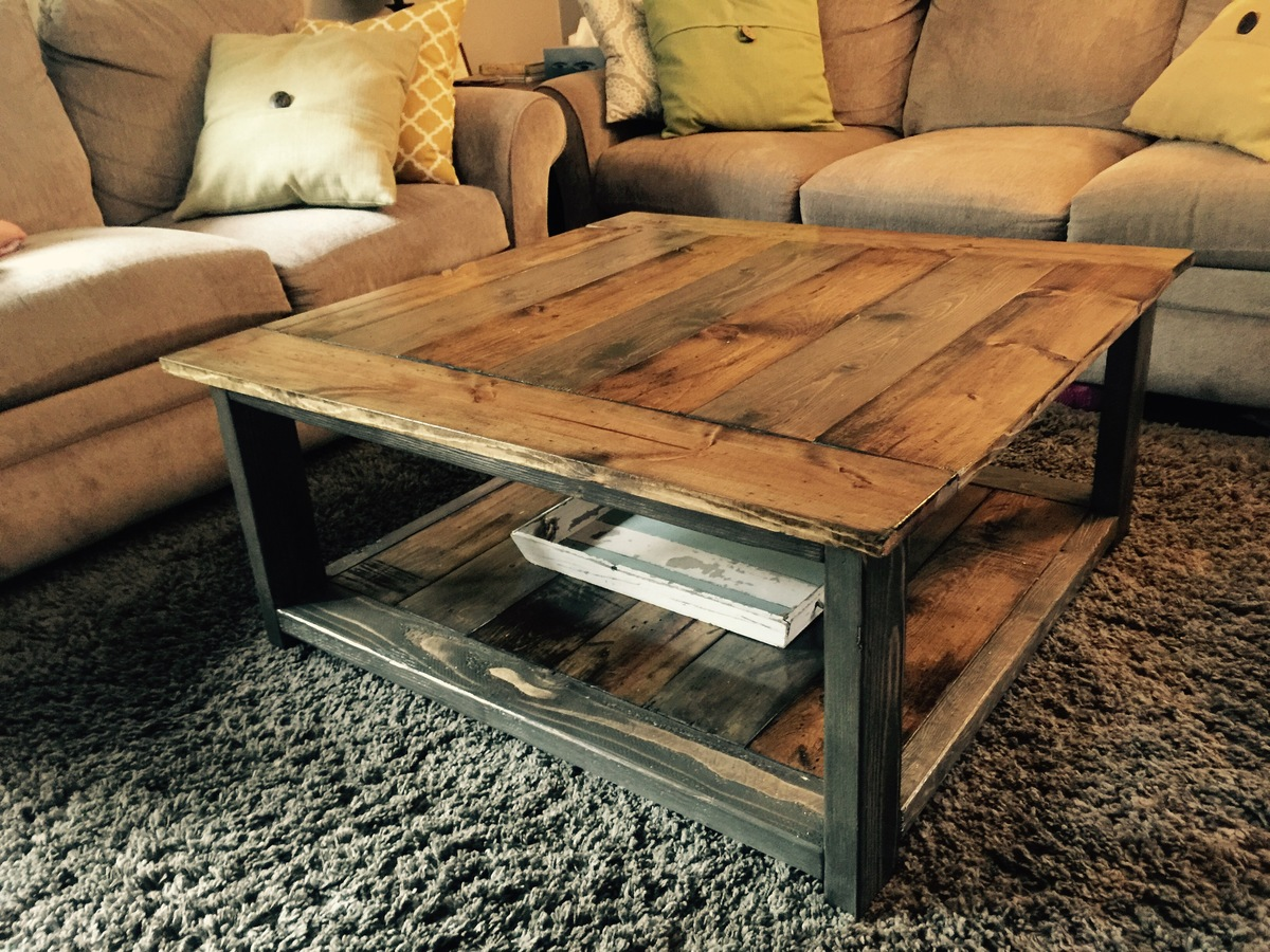 Couchtisch Rustikal Holz Ana White Rustic Xless Coffee Table Diy Projects