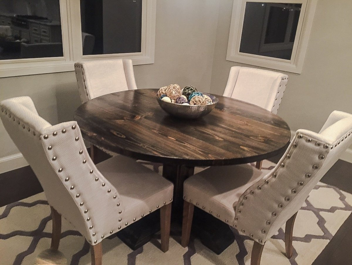 Diy Round Dining Table Plans Ana White 54 Quot Round Pedestal Table Diy Projects