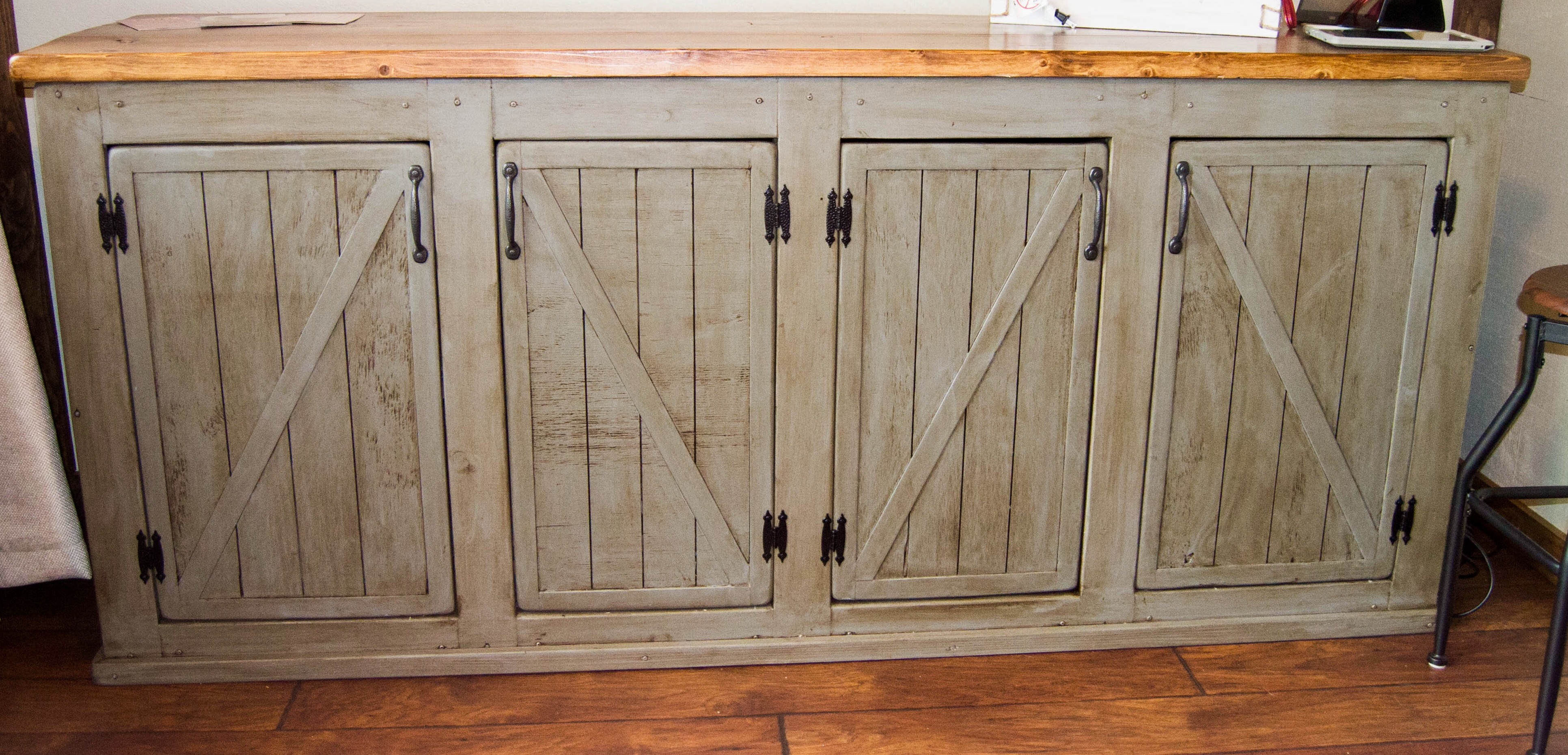 Make Kitchen Cabinet Doors Ana White Scrapped The Sliding Barn Doors Rustic