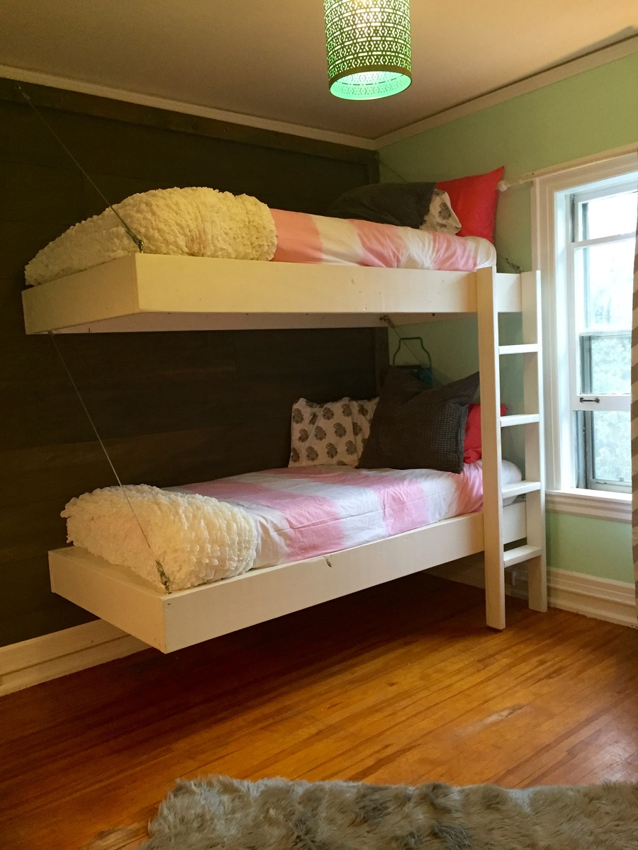 Floating Bedroom Ana White Floating Bunk Beds And Desk Diy Projects