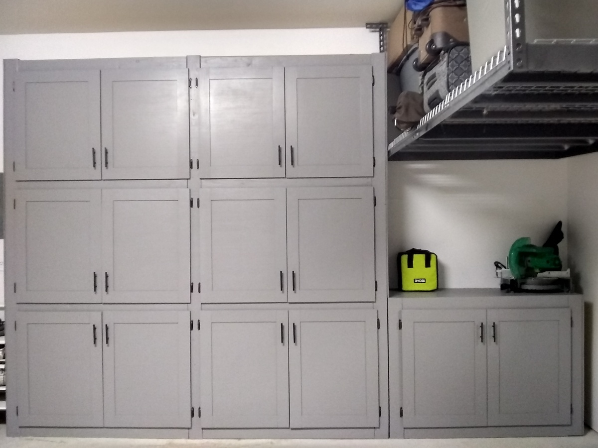 Diy Storage Cabinets For Garage Ana White Garage Shelves With Doors Diy Projects