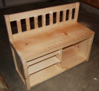 Wooden Shoe Rack Bench Plans PDF Woodworking