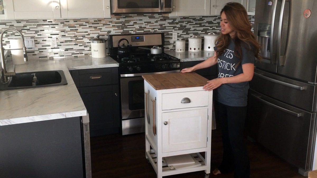 Building Kitchen Cabinets Video Video Tutorial How To Build A Kitchen Island Cart With Ana White