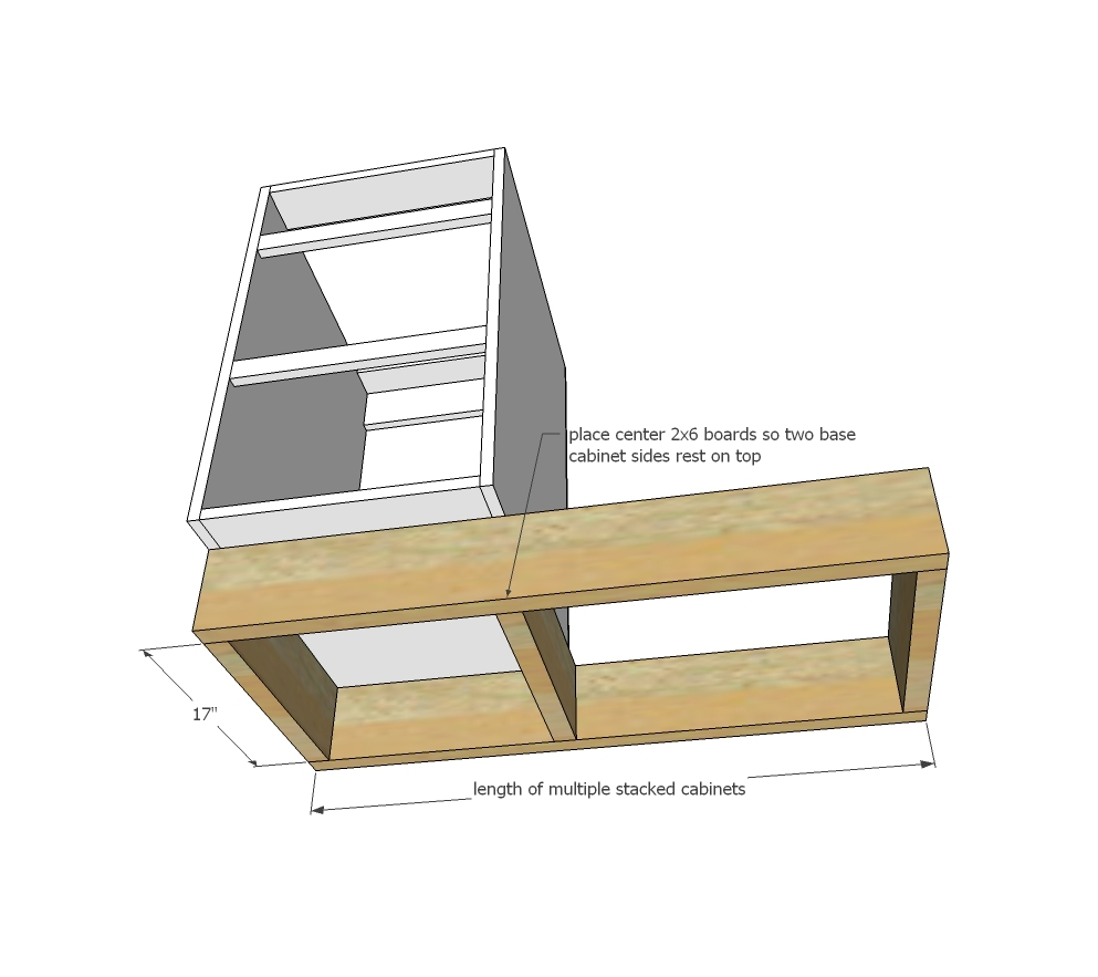 Ana White Tiny House Kitchen Cabinet Base Plan Diy