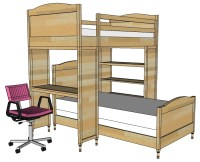 plans for loft bed with desk free | Quick Woodworking Projects
