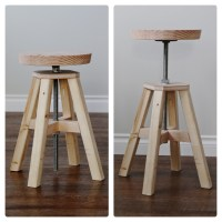 Ana White | Industrial Adjustable Height Bolt Bar Stool ...