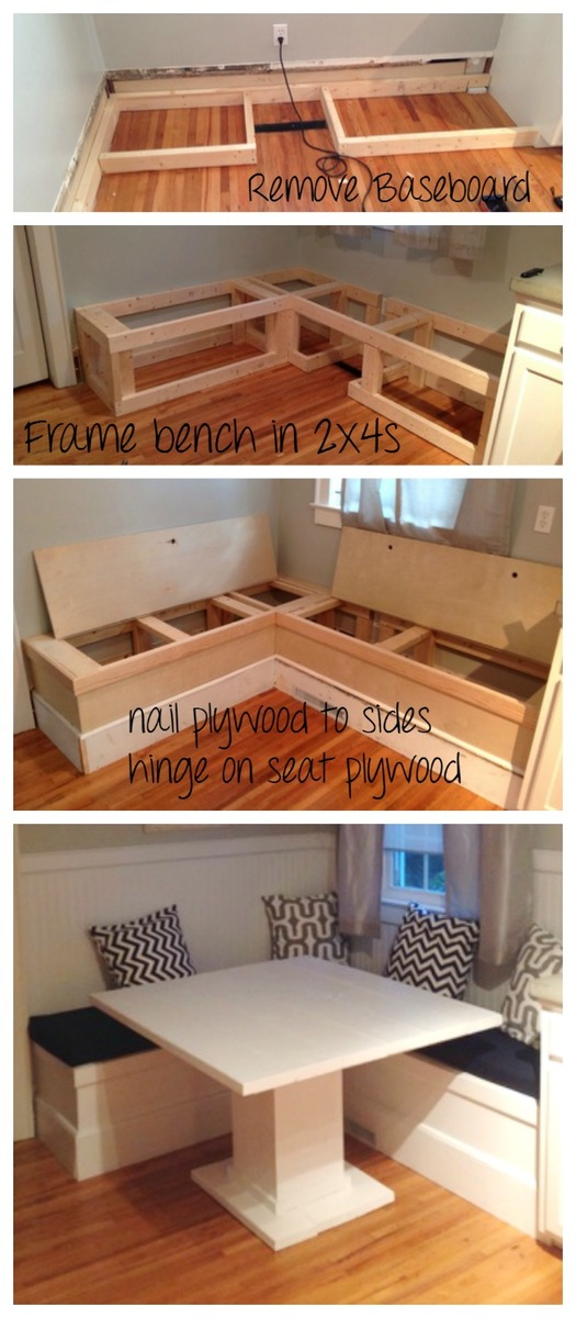 Muebles Caseros Con Palets Ana White | Diy Breakfast Nook With Storage - Diy Projects