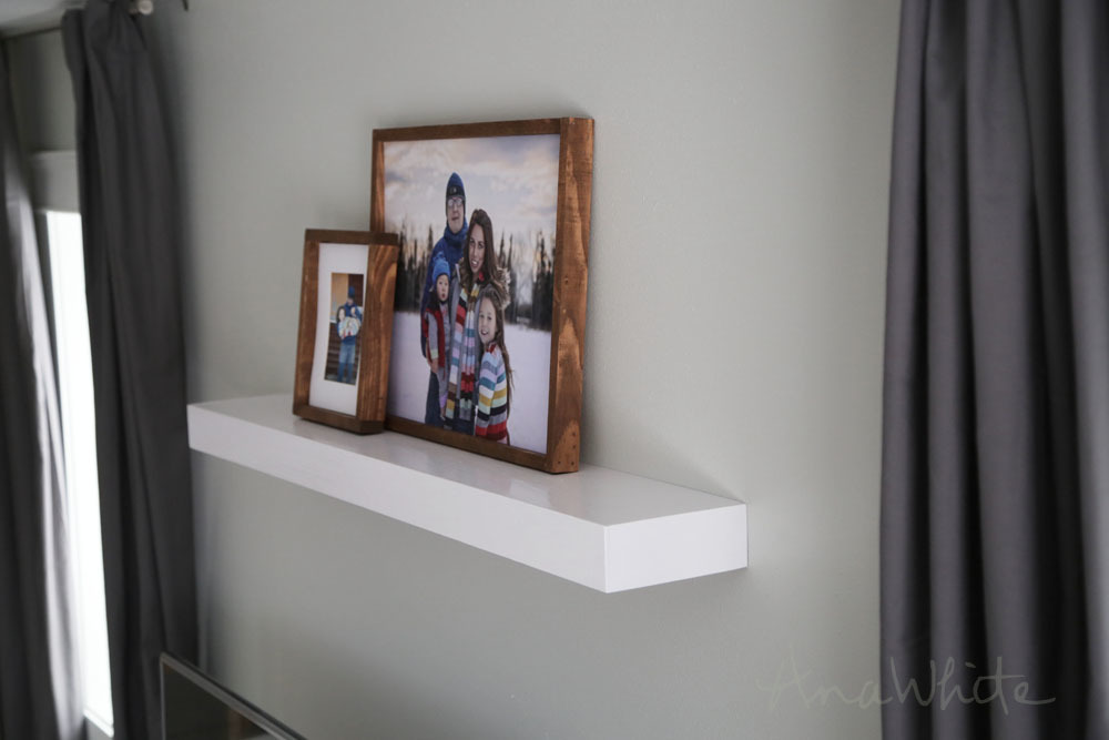 Ana White Modern Floating Shelf Diy Projects