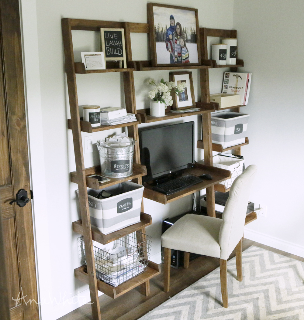 Wall Ladder Shelf Leaning Wall Ladder Desk Ana White