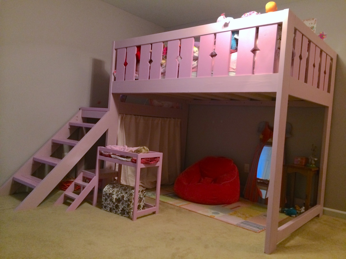 Diy Kids Beds Ana White Modified Camp Loft Bed Full Size Diy Projects