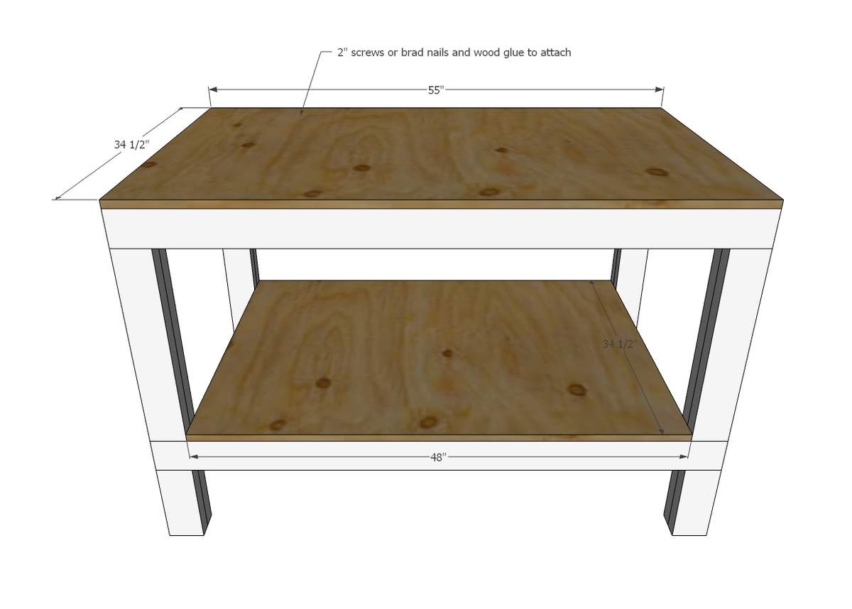 Easy Diy Garage Workshop Workbench Ana White